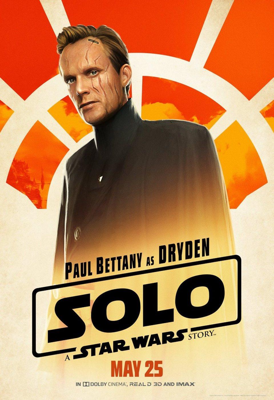 Cartel Dryden de 'Han Solo: Una historia de Star Wars'