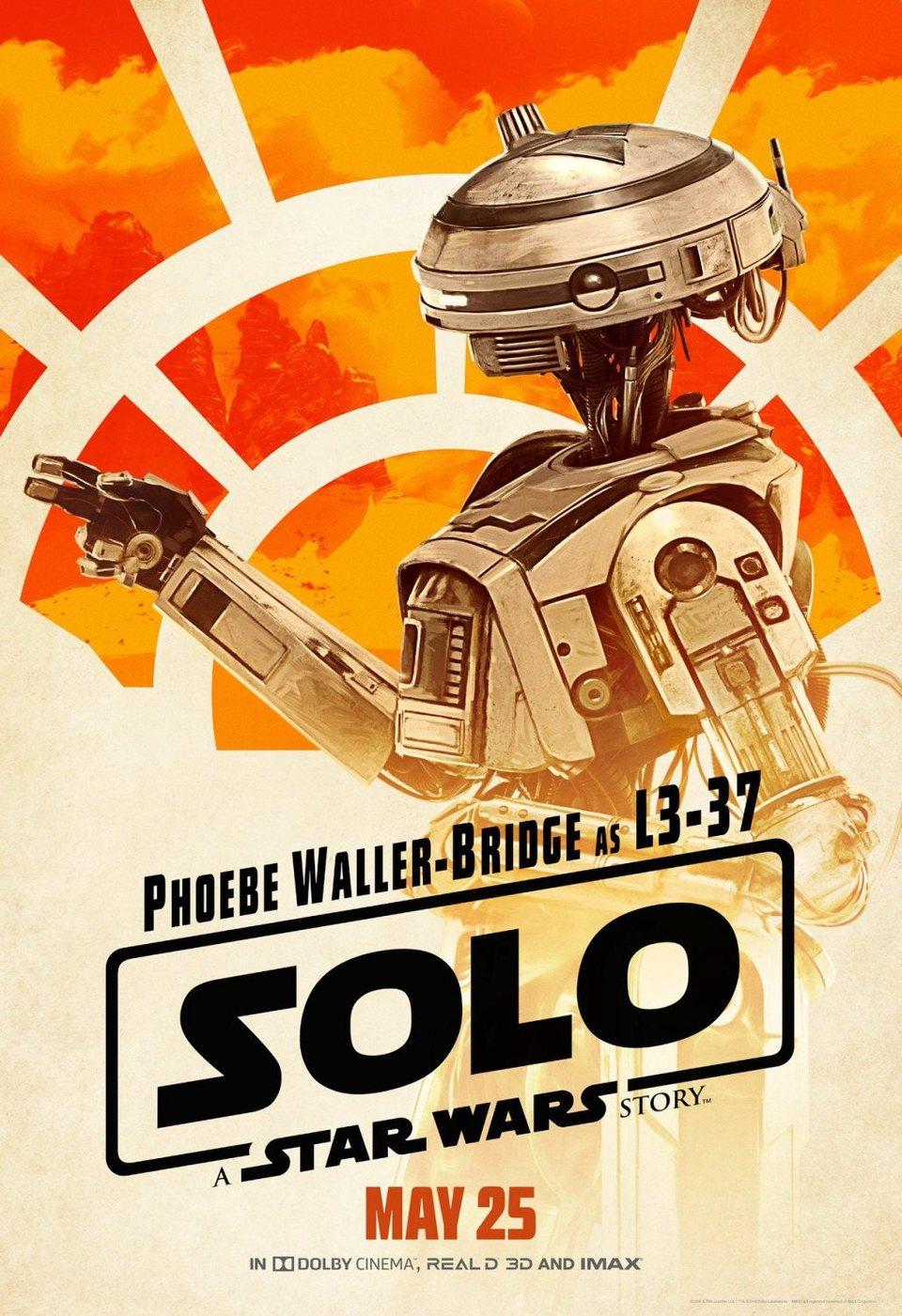 Cartel L3-37 de 'Han Solo: Una historia de Star Wars'