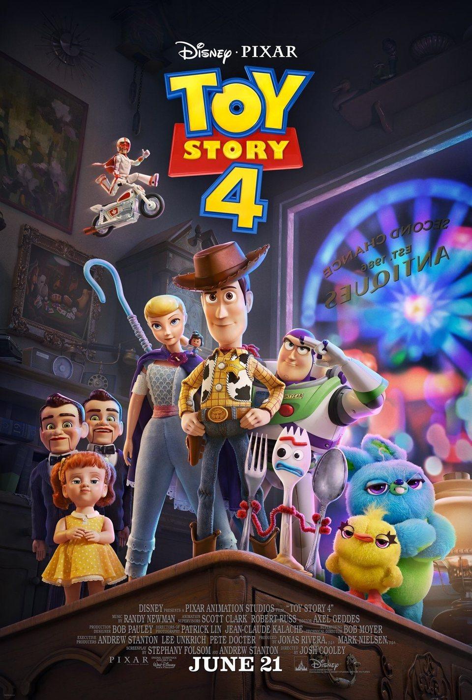 Cartel Estados Unidos de 'Toy Story 4'