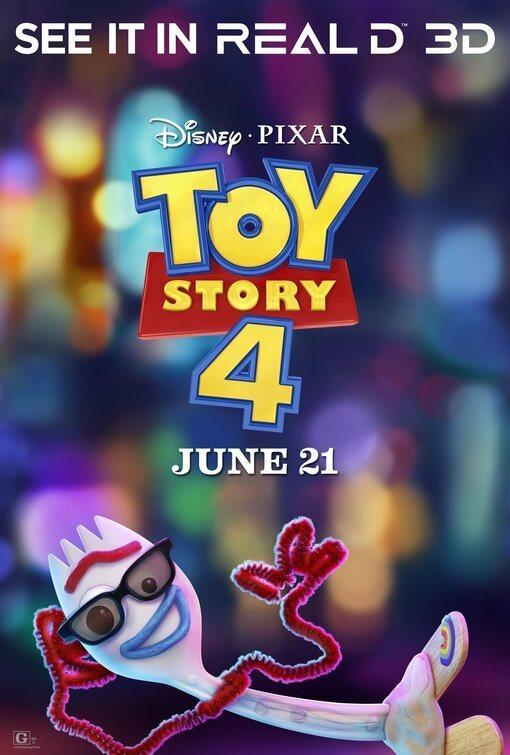 Cartel Estados Unidos 3D de 'Toy Story 4'