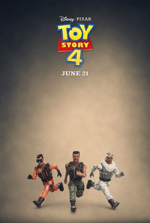 Cartel Muñecos de acción de 'Toy Story 4'
