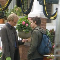 Rhys Ifans y Andrew Garfield en el set de 'The amazing Spider-Man'