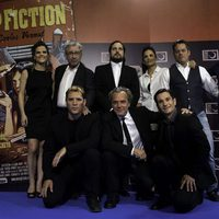El equipo completo en el photocall de One Night Only: 'Pulp Fiction'