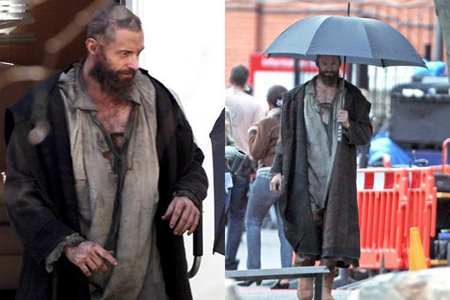 Hugh Jackman como Jean Valjean en Los miserables