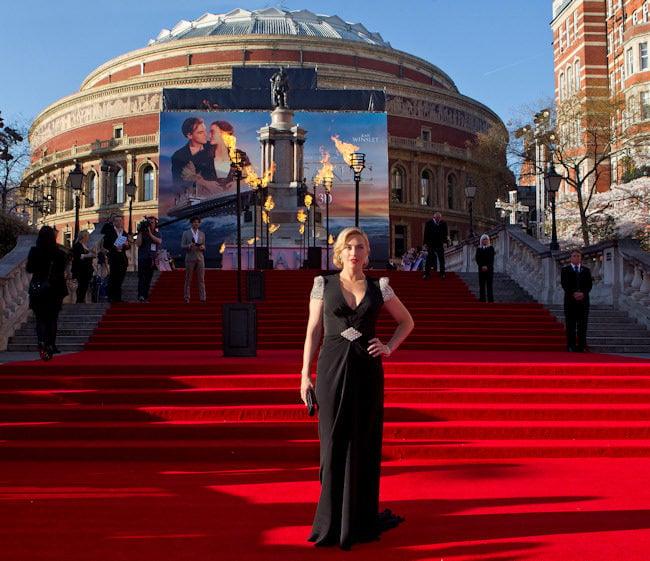 Kate Winslet en la premiere de Titanic 3D