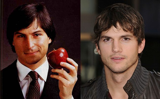 Steve Jobs y Ashton Kutcher