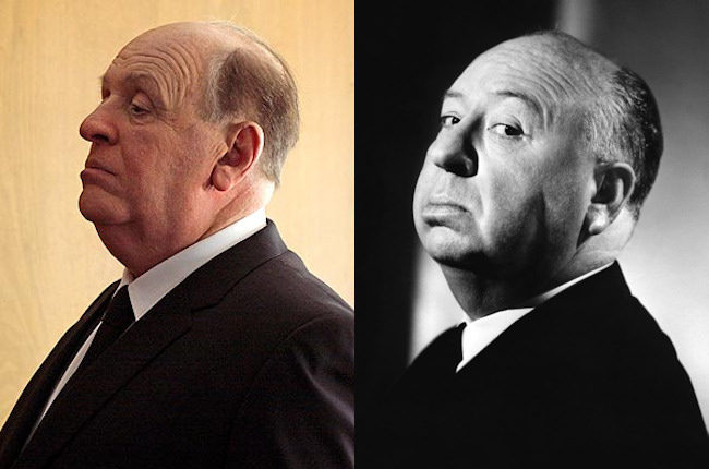 Anthony Hopkins y Alfred Hitchcock
