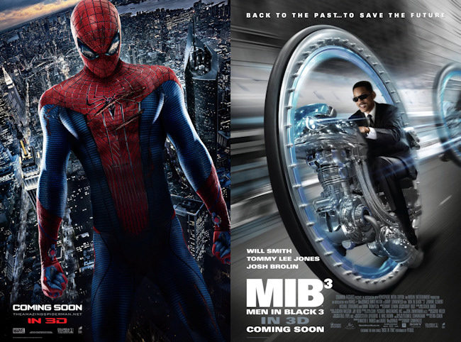 The Amazing Spider-Man y Men in Black 3