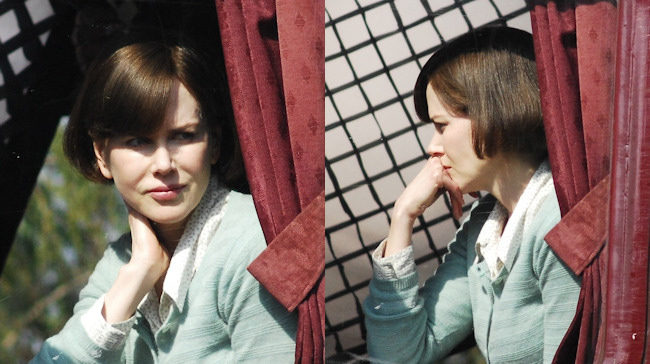 Nicole Kidman en el set de The Railway Man