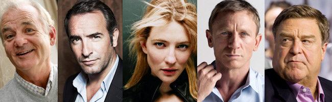 Bill Murray, Jean Dujardin, Cate Blanchett, Daniel Craig y John Goodman