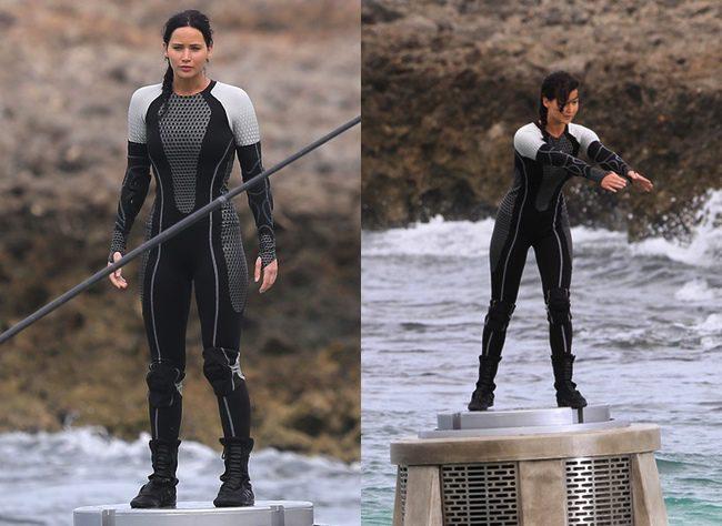 Jennifer Lawrence en el rodaje de En llamas