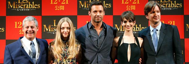 Anne Hathaway, Hugh Jackam y Amanda Seyfried comienzan a promocionar 'Los miserables' en Tokio