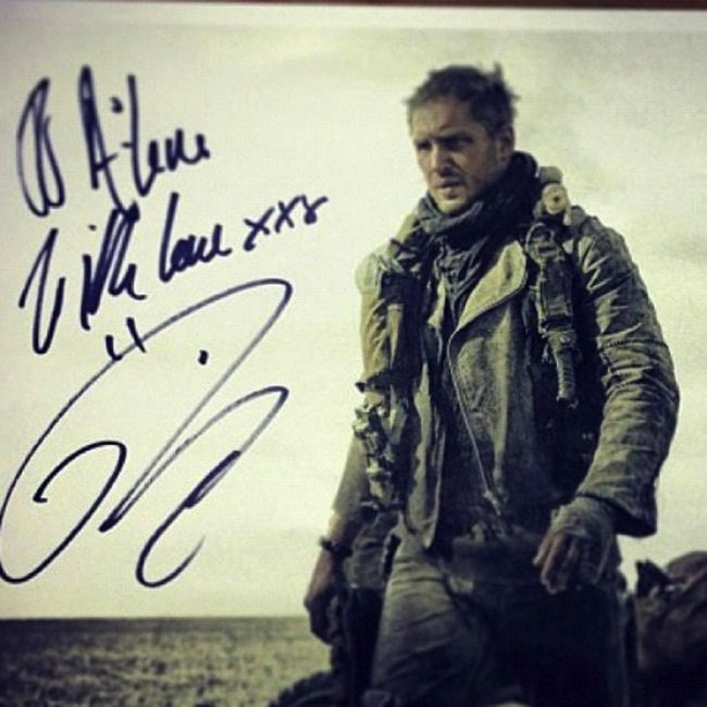 Tom Hardy en el rodaje de Mad Max: Fury Road
