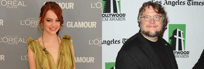 Emma Stone y Guillermo del Toro
