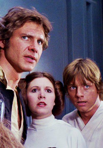 Han Solo, la princesa Leia y Luke Skywalker