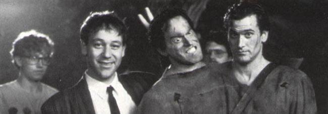 Sam Raimi en el set de 'Evil Dead'