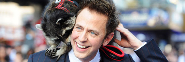 James Gunn con Rocket Raccoon