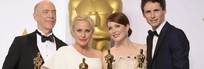 J.K. Simmons, Patricia Arquette, Julianne Moore y Eddie Redmayne en los Oscar 2015