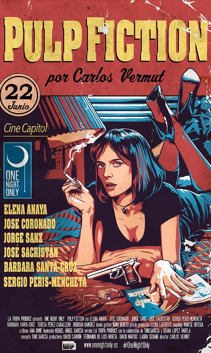 Elena Anaya es Uma Thurman en el cartel del 'remake' español de 'Pulp Fiction'