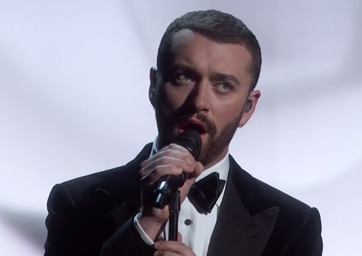 Sam Smith en la Gala de los Oscars 2016