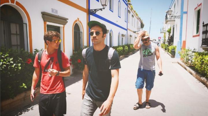 Ricardo Gómez, Miguel Herrán y Luis Tosar
