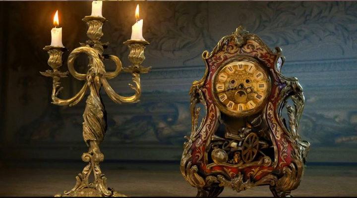 Lúmiere y Din Don en 'la bella y la Bestia'