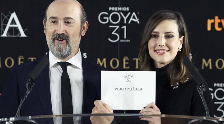 Javier Cámara y Natalia de Molina en la lectura de nominados