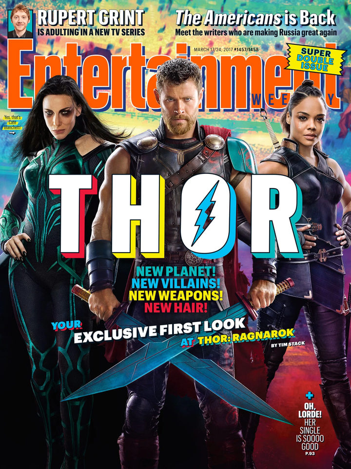 Portada de Entertainment Weekly dedicada a Thor: Ragnarok