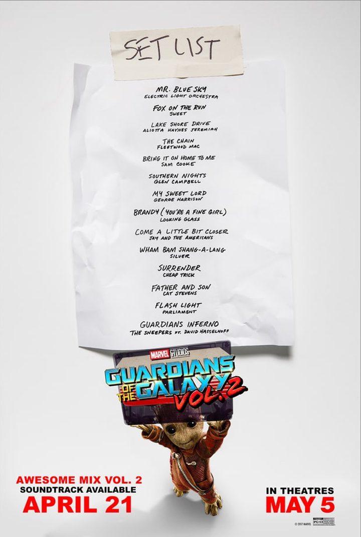 Banda sonora oficial de 'Guardianes de la Galaxia Vol.2'