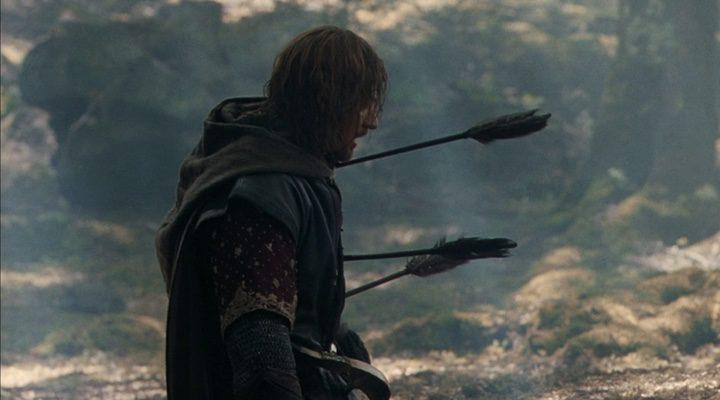 Sean Bean en su mítica escena en 'El Señor de los anillos: La comunidad del anillo'
