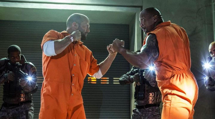 Dwayne Johnson y Jason Statham en 'Fast & Furious 8'