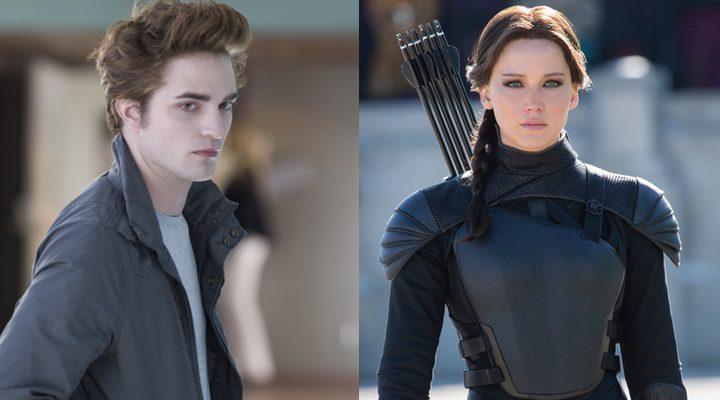 Robert Pattinson en 'Crepúsculo' y Jennifer Lawrence en 'Los Juegos del Hambre'