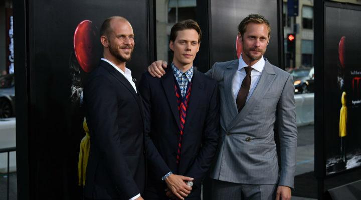 Los hermanos Skarsgård en la premiere de 'It'