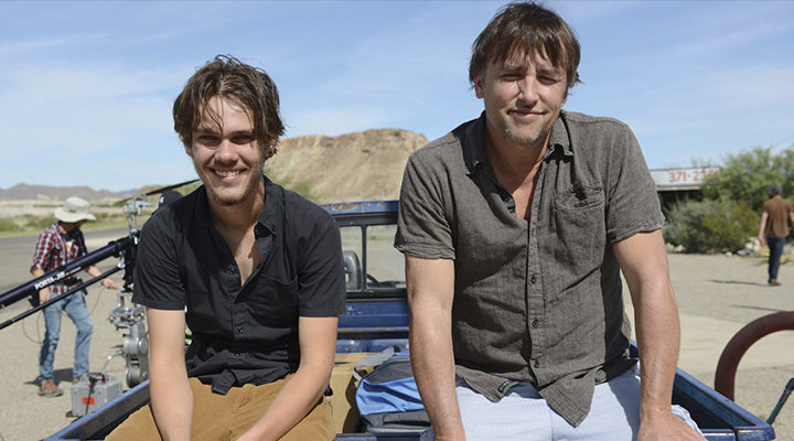 Ellar Coltrane y Richard Linklater