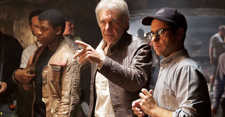 John Boyega, Harrison Ford y J.J. Abrams