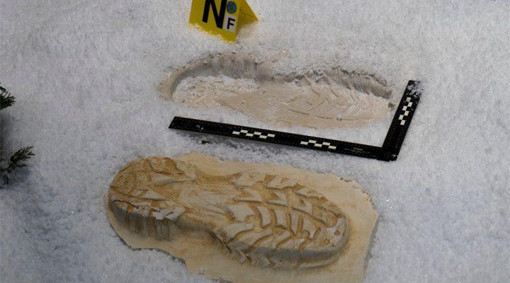 'Huella de pisada de 'El muñeco de nieve''