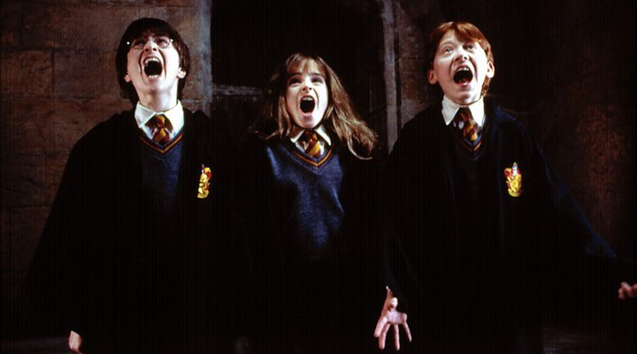 Harry, Hermione y Ron