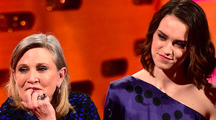 Carrie Fisher y Daisy Ridley