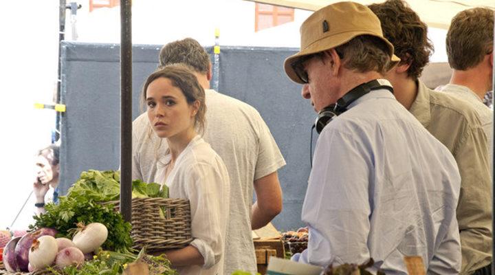 Ellen Page en el rodaje de 'A Roma con amor'