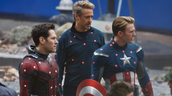 Robert Downey Jr., Chris Evans and Paul Rudd