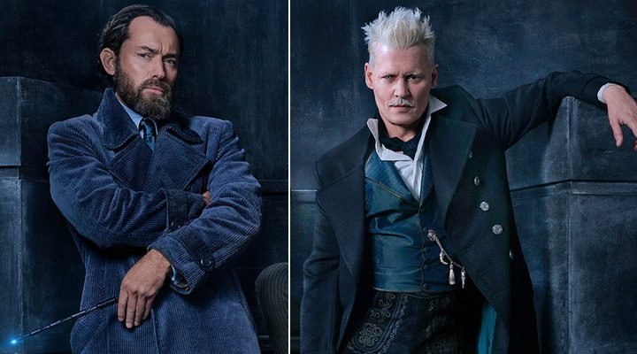 Jude Law y Johnny Depp en 'Animales Fantásticos: Los crímenes de Grindelwald'