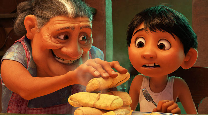 Miguel and his grandmother in 'coco'