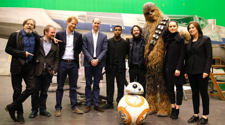 Princes William and Harry visit the set of 'Star Wars: The Last Jedi'