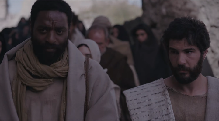 Chiwetel Ejioforo Y tahar Rahim como Pedro y Judas Iscariote