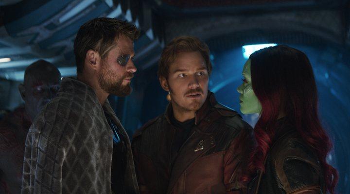 Thor, Gamora y Star-Lord