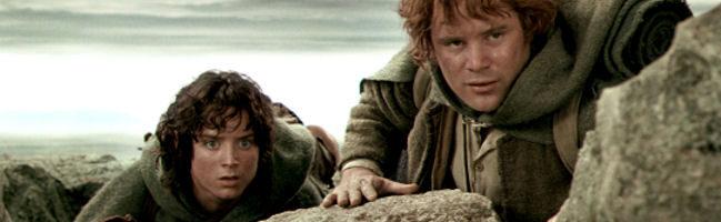 Frodo y Sam en El Senor de los Anillos