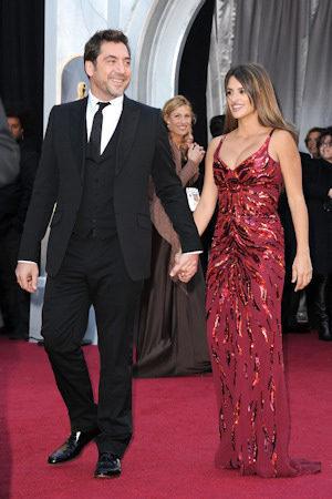 Javier Bardem y Penelope Cruz en Los Oscar 2011