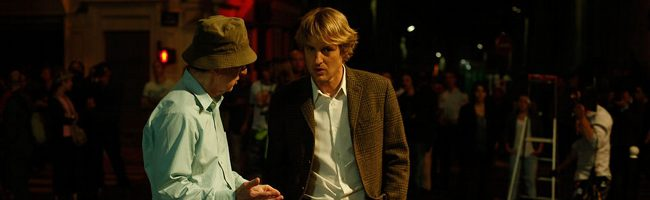 Owen Wilson y Woody Allen en Midnight in Paris