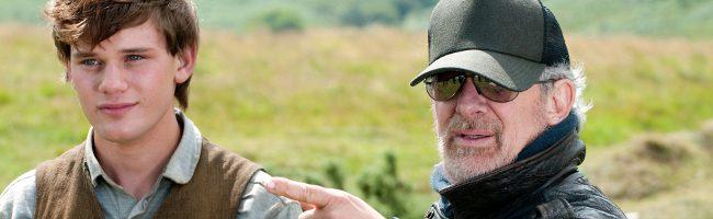 Steven Spielberg en el rodaje de Caballo de batalla