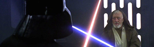 Star Wars Darth Vader contra Obi Wan Kenobi